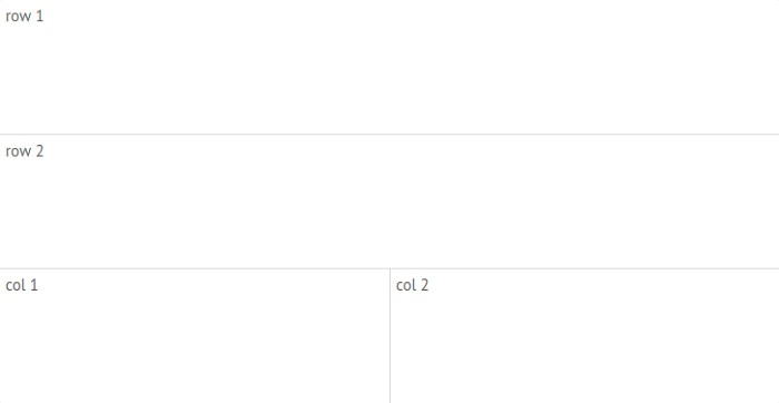 Email client creations: nested cells
