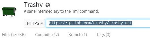 GitLab shows the repo URL.