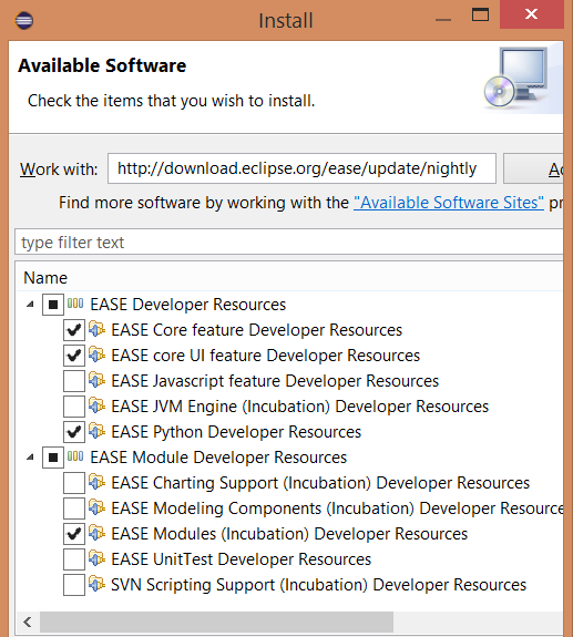 install EASE nightly