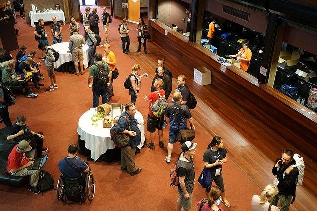 Attendees at Linux.conf.au 2016
