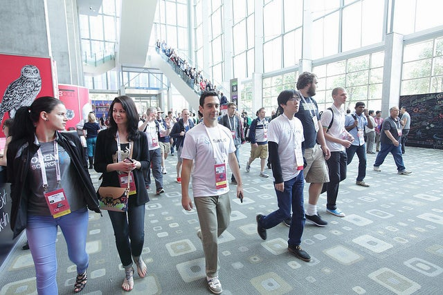 Attendees at OSCON 2016 in Austin