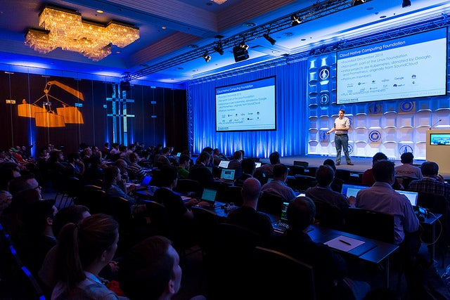 The crowd at LinuxCon Berlin 2016 during a keynote