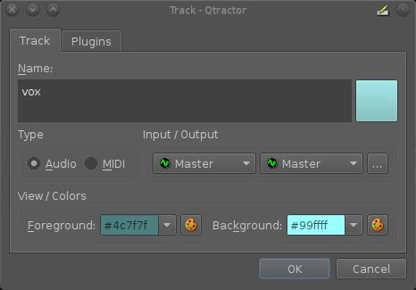 Audio track creation