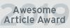 Awesome Article Award 2019
