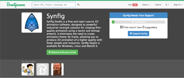 Synfig Studio on Bountysource