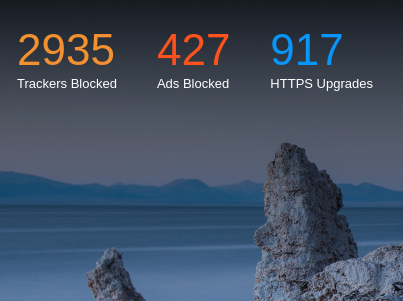 Brave browser's new tab