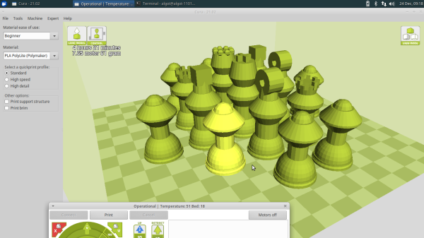 3D chess set
