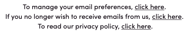 Unsubscribe from email