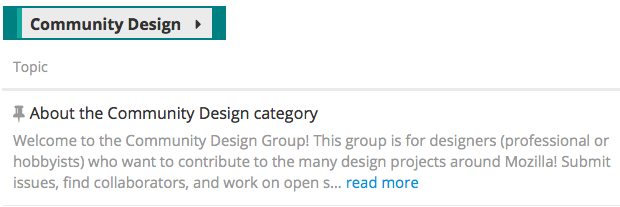 Design Community Category, Flipped Contribution Model