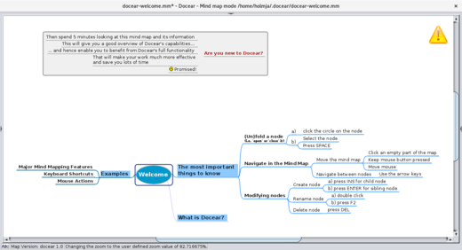 Docear Welcome Mind Map