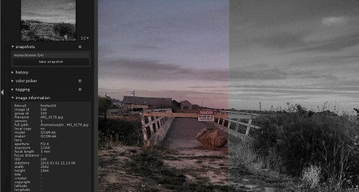 Split-screen view of the snapshot and your photo