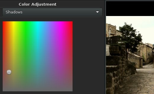 Color adjustment.