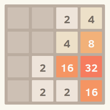 2048 sliding tile game.