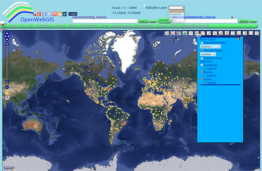 OpenWebGIS interface variant