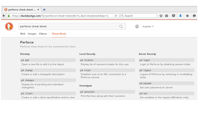 Search results with DuckDuckGo