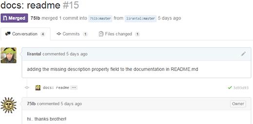 GitHub comment screenshot