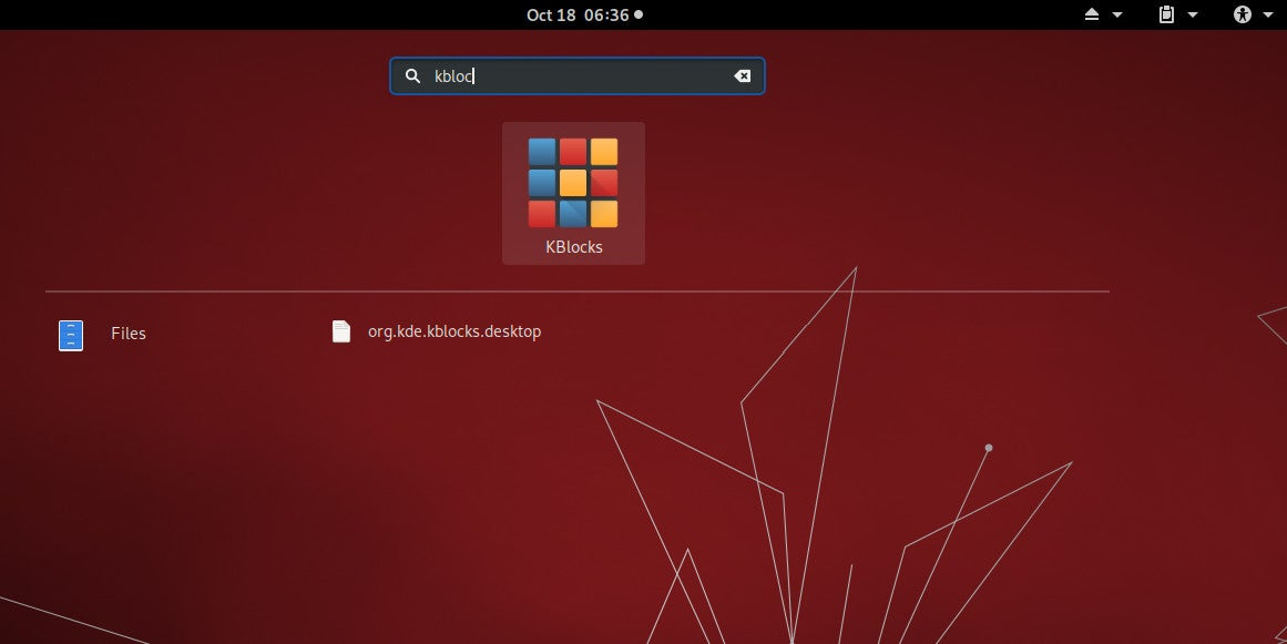The Activities menu in GNOME