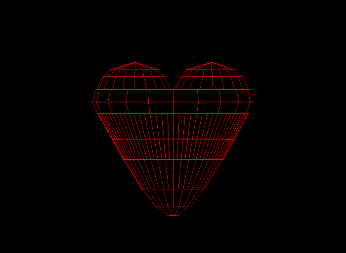 Amour object wireframe