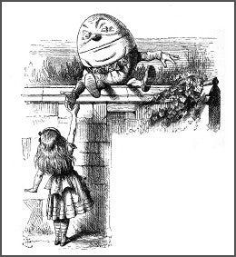 Humpty Dumpty, Tenniel.