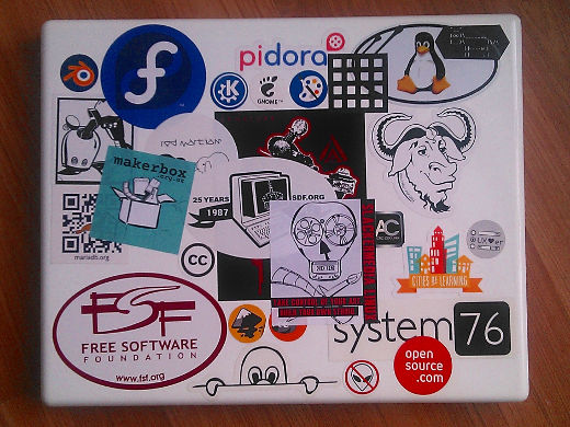That i walk around with 30 stickers on my computer because im supporting real people not just because i am selling my soul to every company that hands