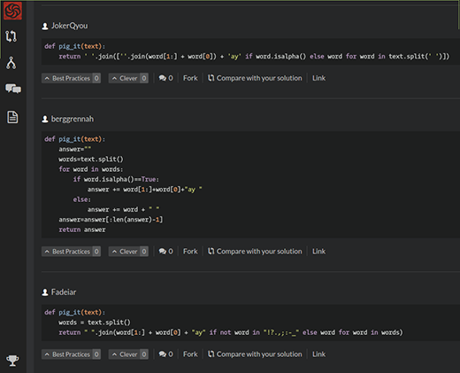 Codewars screenshot