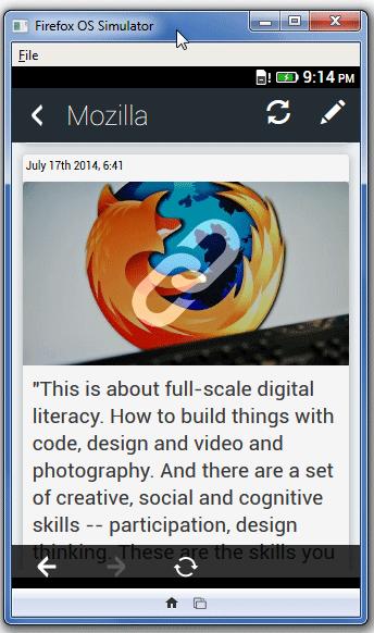 Apptuter Facebook Firefox OS App 2