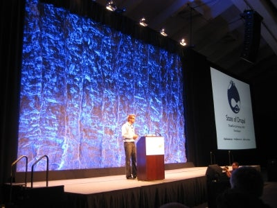 Dries present the State of Drupal at DrupalCon SF 2010