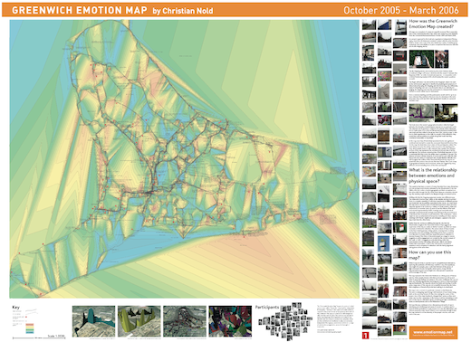 Greenwich emotion map by Christian Nold