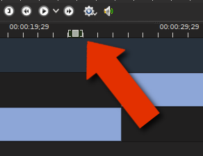 screenshot of the target point in the timeline