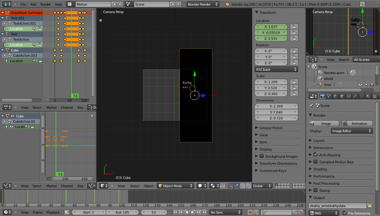 Using Blender for lower thirds