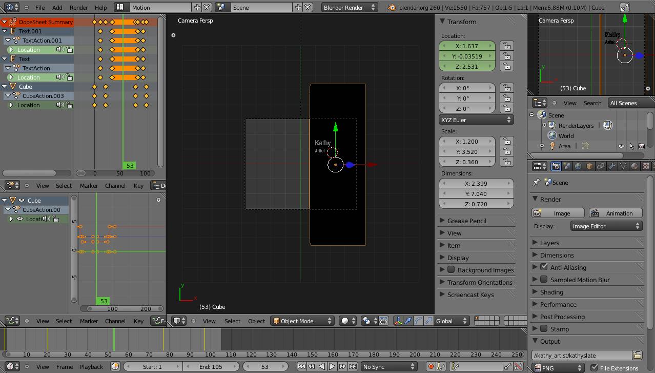 Using Blender for lower thirds