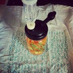 Kimchi in a jar
