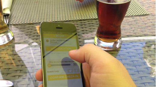 Opensource.com team member Michael Harrison uses Untappd.