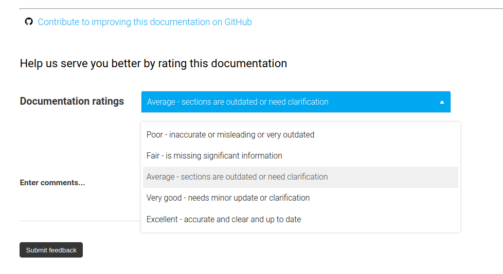 Mycroft documentation ratings