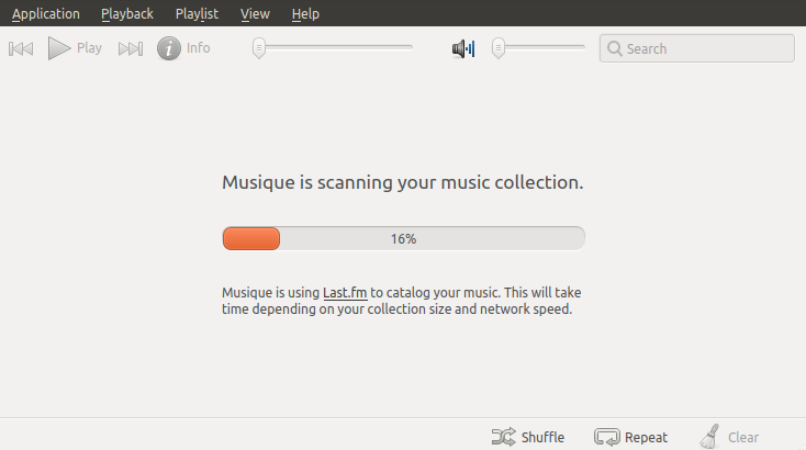 Musique scanning start screen