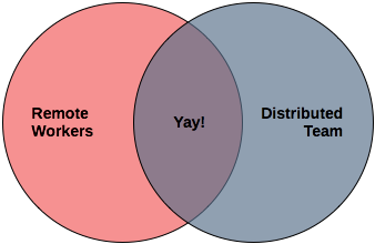 remote workers vs distributed team