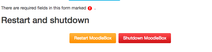 MoodleBox save and shut down page