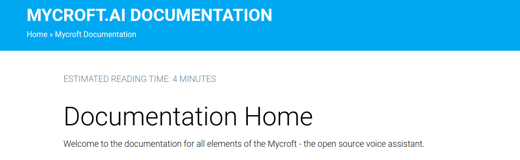 Mycroft documentation home