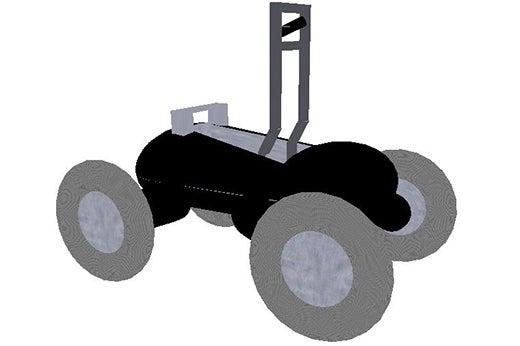 Virtual reality Scarab rover