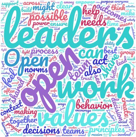 Open Leadership Definition word cloud