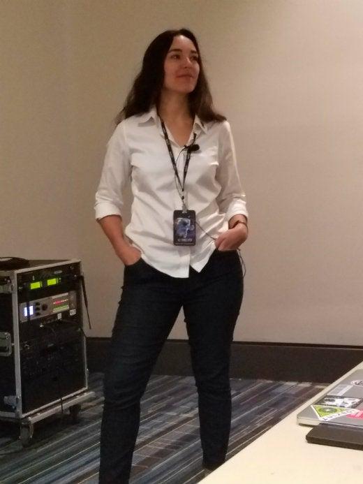 Jen talking productivity hacks at ATO 2016