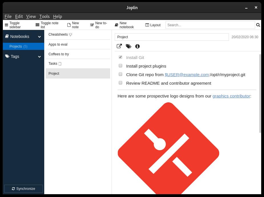 Joplin desktop app