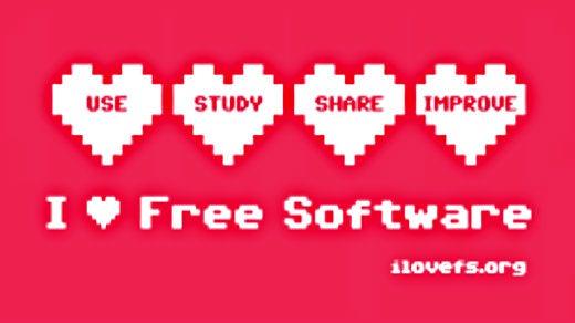 I love Free Software FSFE celebration