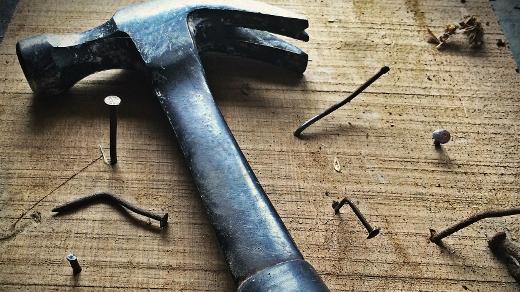 hammer and bent nails