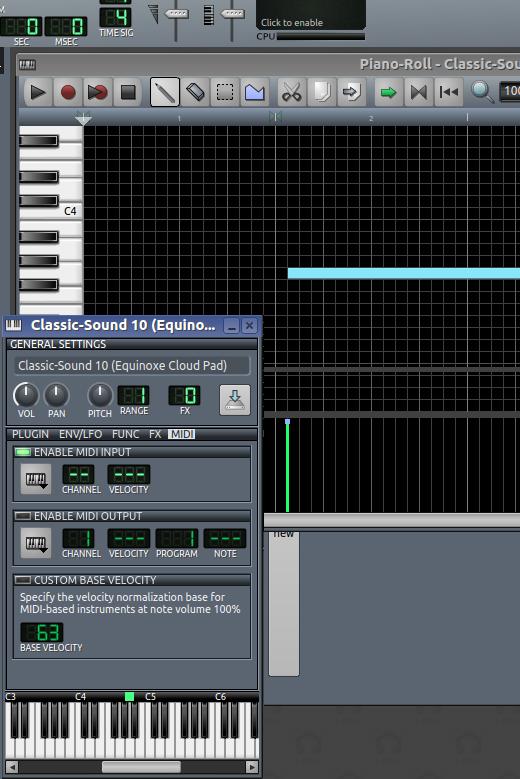 Linux Multimedia Studio, LMMS, MIDI