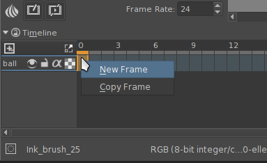 Create a new frame.