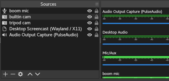 Adding a source in OBS