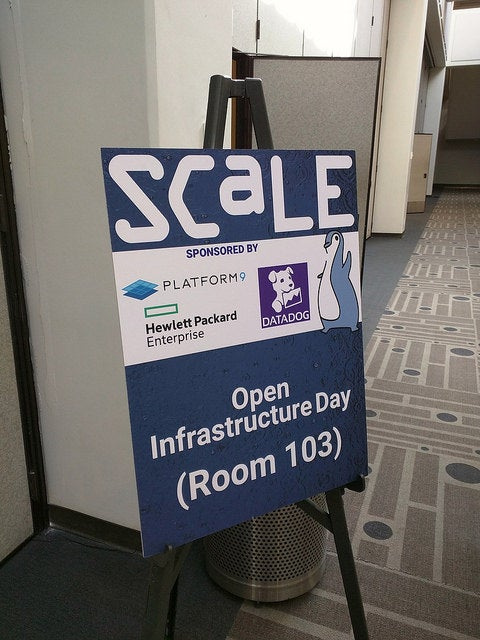Open Source Infrastructure Day sign