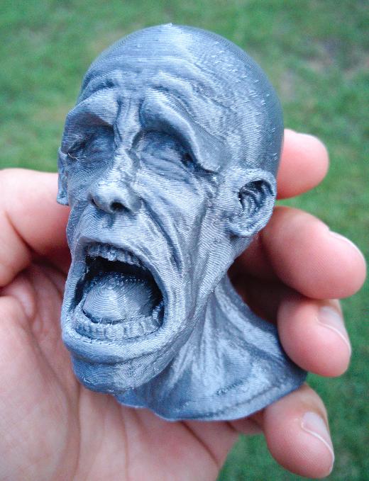 3D printed model finished