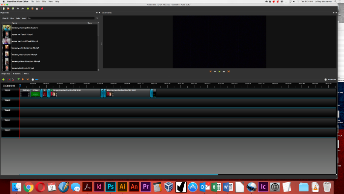 Editing video in OpenShot
